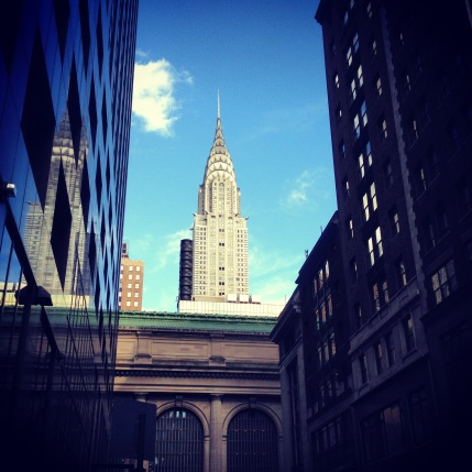 The Chrysler Building peeks over Grand Central.