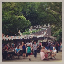 Summer in NYC isn't complete without a stop at Shake Shack. Running into one of the Marriott School graphic designers added to the fun.
