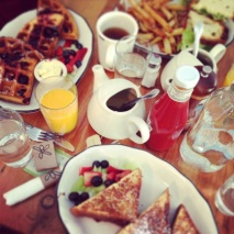 Our breakfast after Tiffany's.