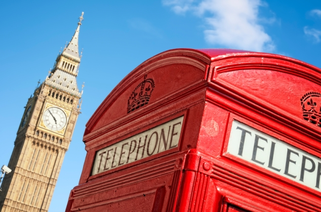 Red Telephone box and Big Ben