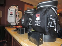 The first-place prizes for the tournament, proudly displaying the Beard for Boston logo.