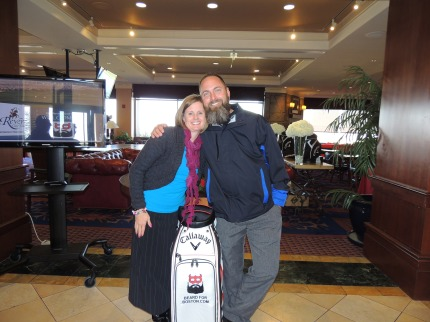 Judkins and his wife, Charity, at the tournament.