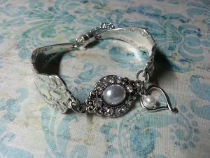 Christine Roundy designs and sells jewelry made from silverware.